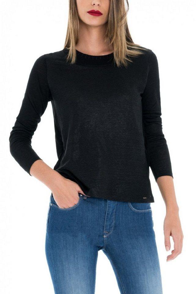 salsa jeans T-Shirt mit Arm in Black