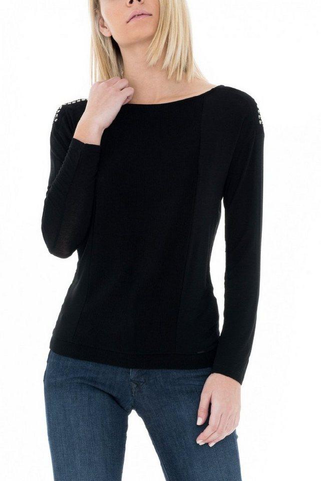 salsa jeans T-Shirt mit Arm »BRAZIL« in Black