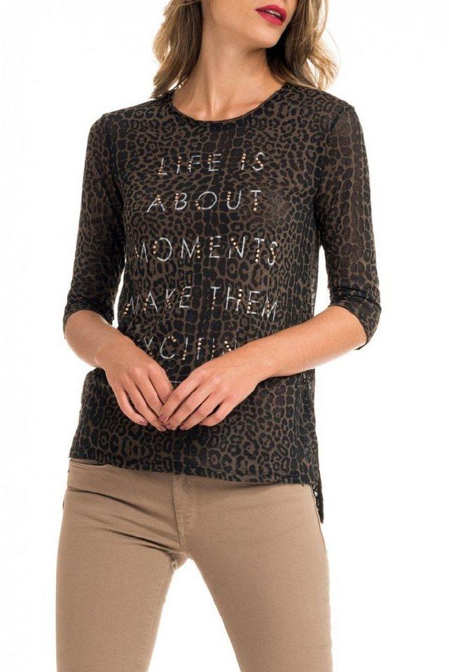 salsa jeans T-Shirt, kurzarm »VICTORIA« in Brown