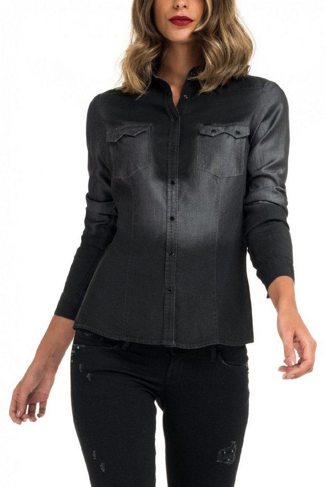 salsa jeans Bluse »MAGDALENA« in Black