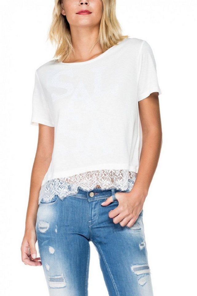 salsa jeans T-Shirt, kurzarm in White