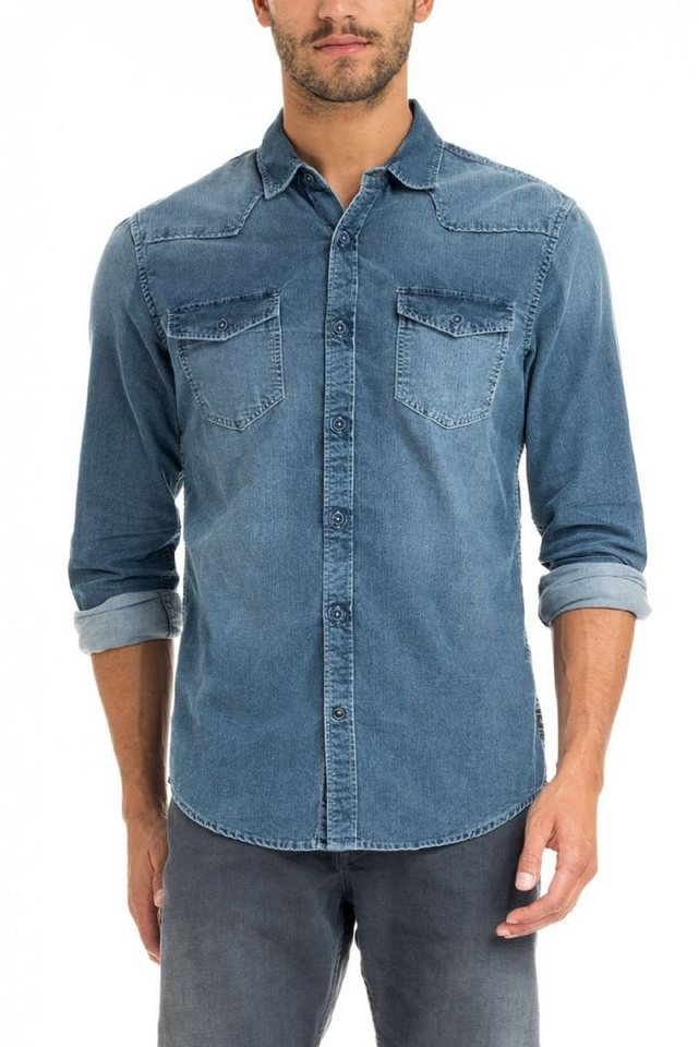 salsa jeans Hemd in Grey
