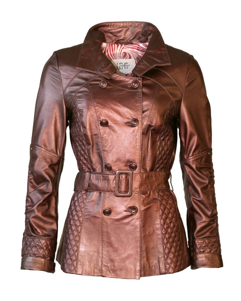 JCC Lederjacke, Damen Bordau in bordeaux metallic