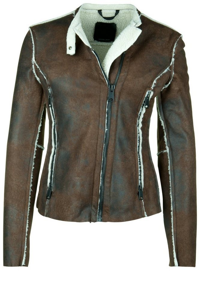 REPLAY Jacke »BIKER FELLIMITAT« in brown