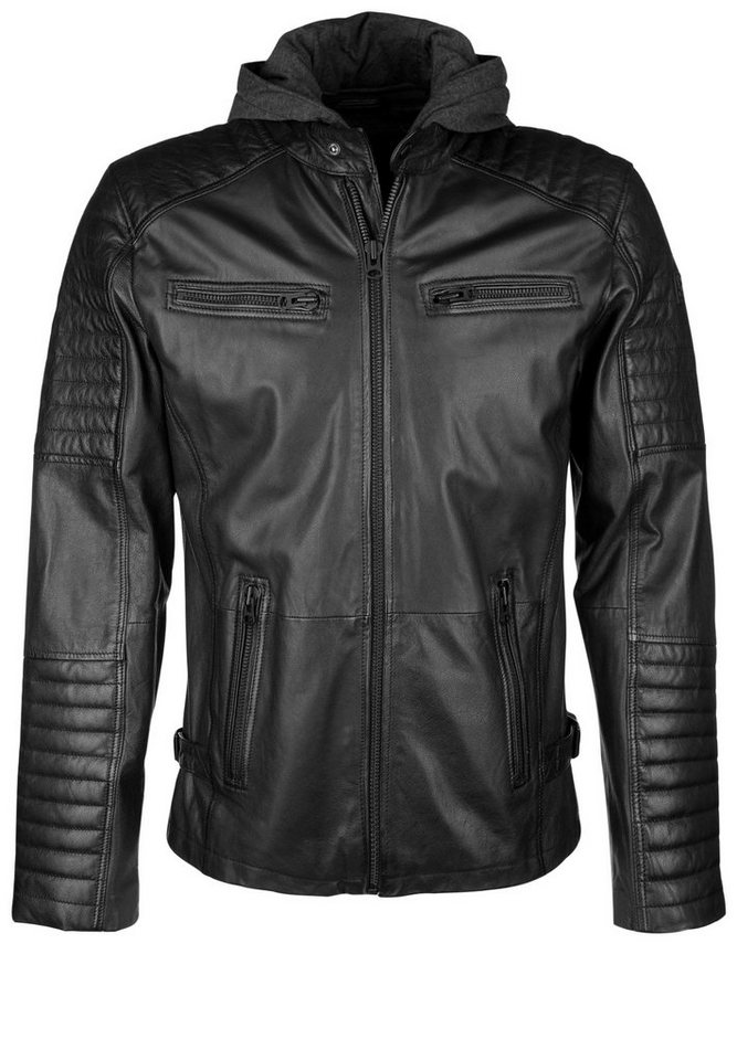 Freaky Nation Lederjacke »MOTORHOOD« in black