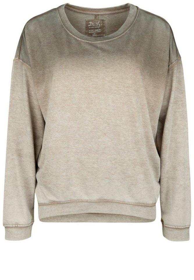 DAILY'S NOTHING'S BETTER Sweatshirt »HEMLATA« in Loft/Taupe