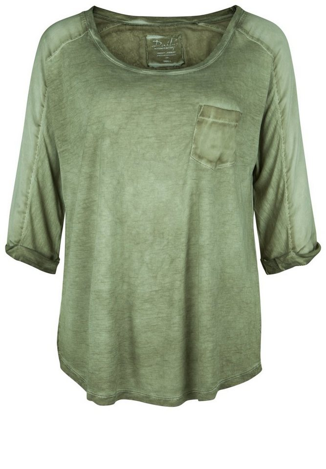 DAILY'S NOTHING'S BETTER Shirt »HYACINTH« in green slick