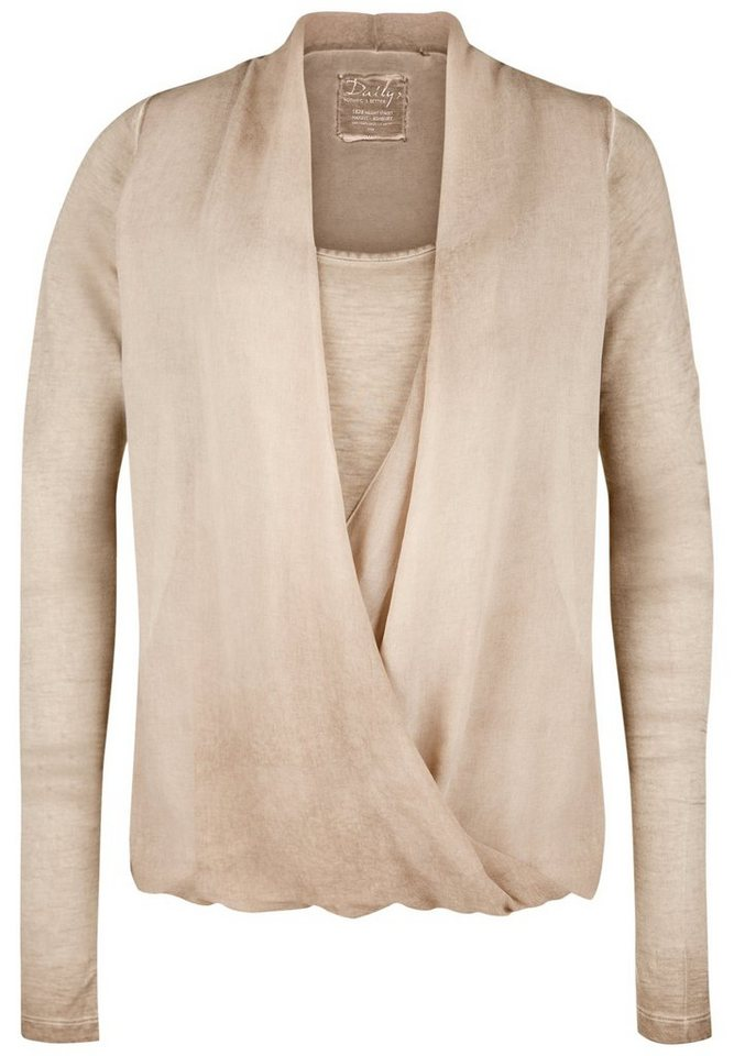 DAILY'S NOTHING'S BETTER Wickelbluse »HEYLIE« in taupe