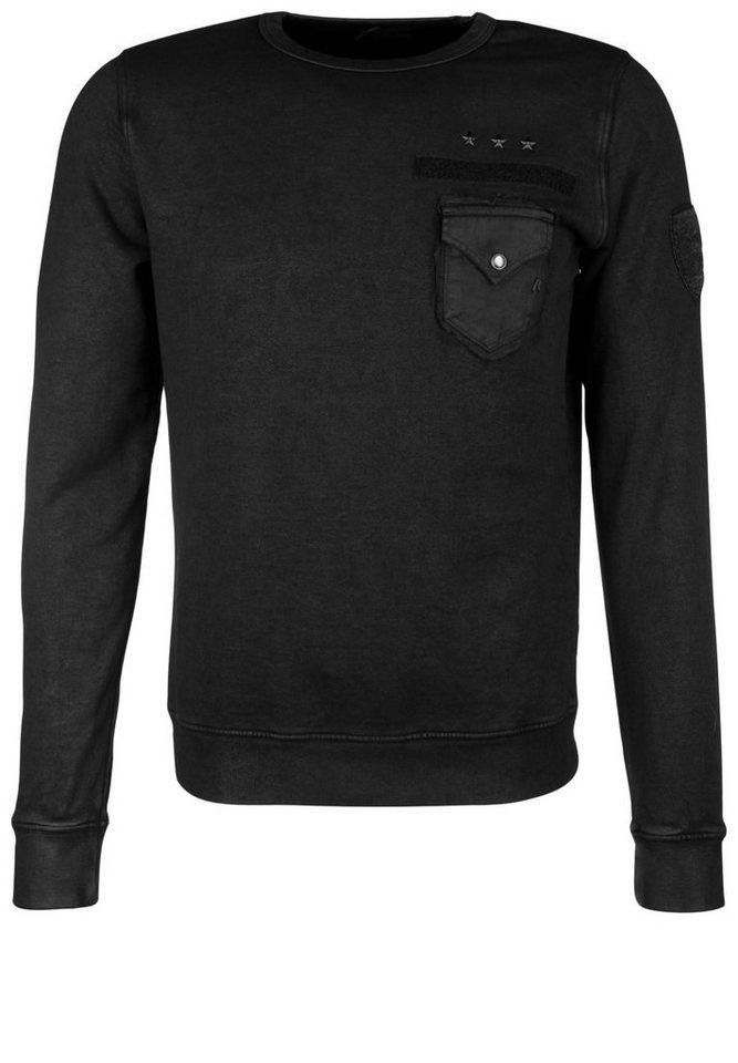 REPLAY Sweatshirt »ARMY« in black