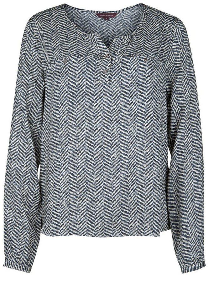 LA FÉE MARABOUTÉE Bluse »MIT CHEVRON-PRINT« in black & white