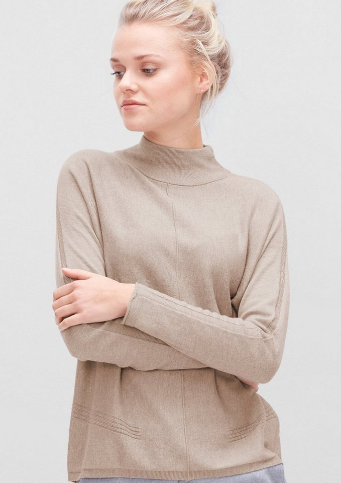 s.Oliver RED LABEL Feinstrickpulli mit Turtleneck in dark oat melange
