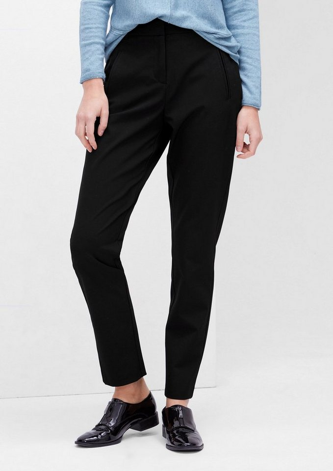 s.Oliver RED LABEL Smart Chino: Stretchige Businesshose in black