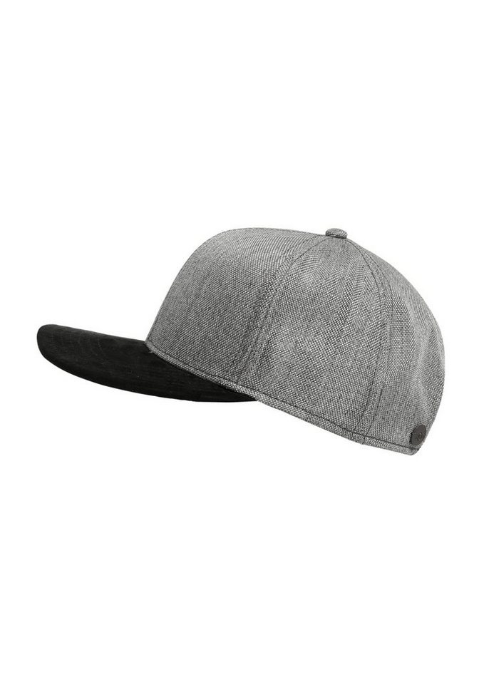 s.Oliver RED LABEL Kappe im Materialmix in grey/black