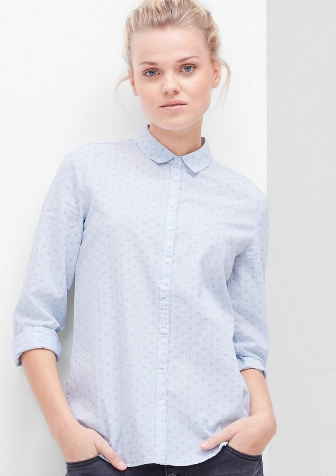 s.Oliver RED LABEL Bluse mit Minimalmuster in blue floral print