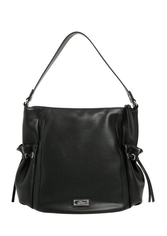 s.Oliver RED LABEL Hobo Bag aus glänzendem Kunstleder in black