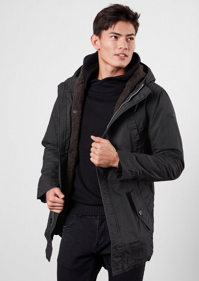 Q/S designed by 2-in-1 Jacke im Parka-Look in black grey