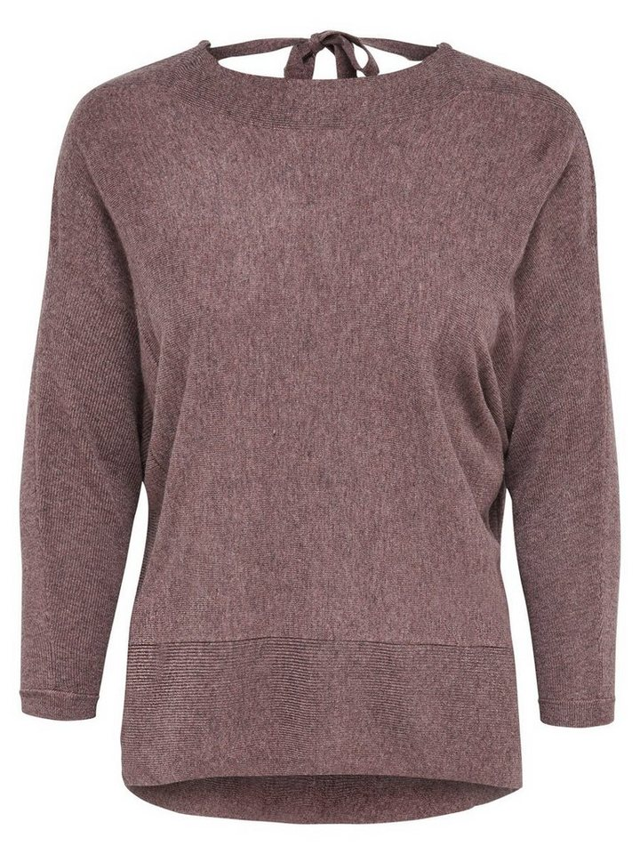 Only Detaillierter Strickpullover in Deep Taupe