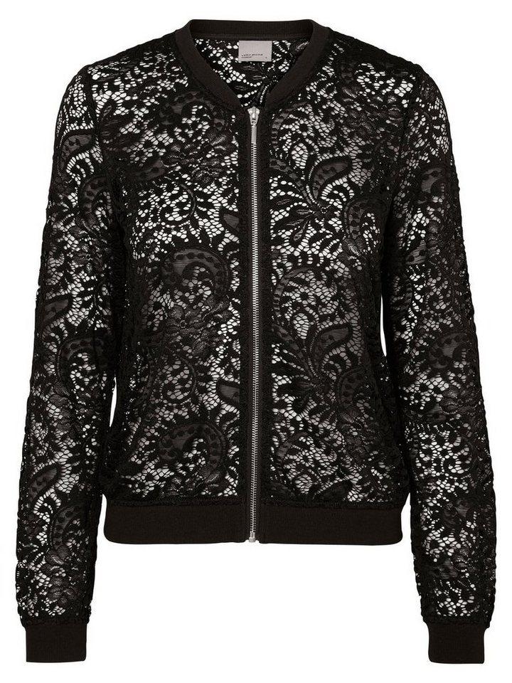 Vero Moda Spitzen-Bomber- Jacke in Black