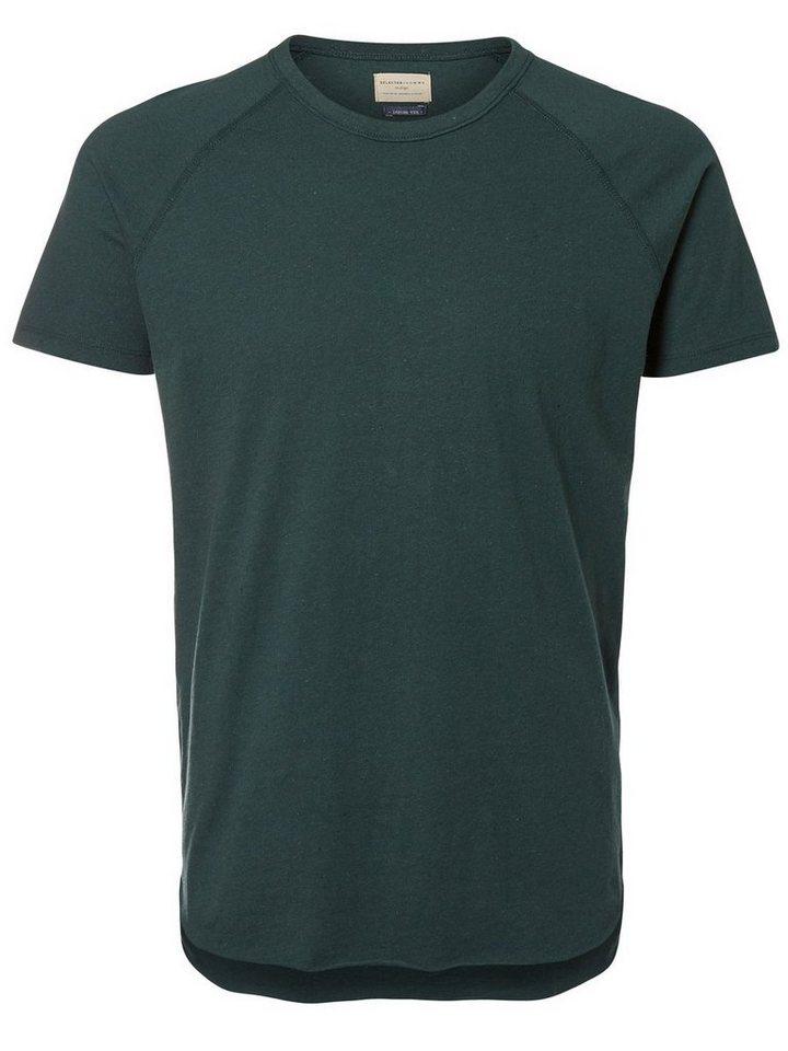 Selected Rundhalsausschnitt- T-Shirt in Green Gables