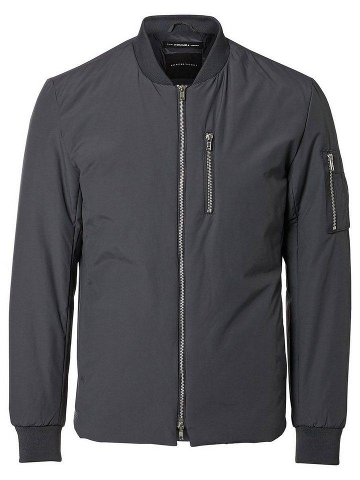 Selected Bomber- Jacke in Dark Grey