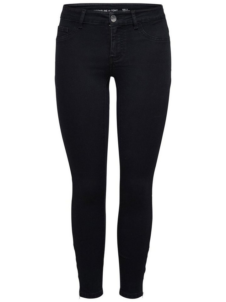Only JDY Eagle zip ancle Skinny Fit Jeans in Black