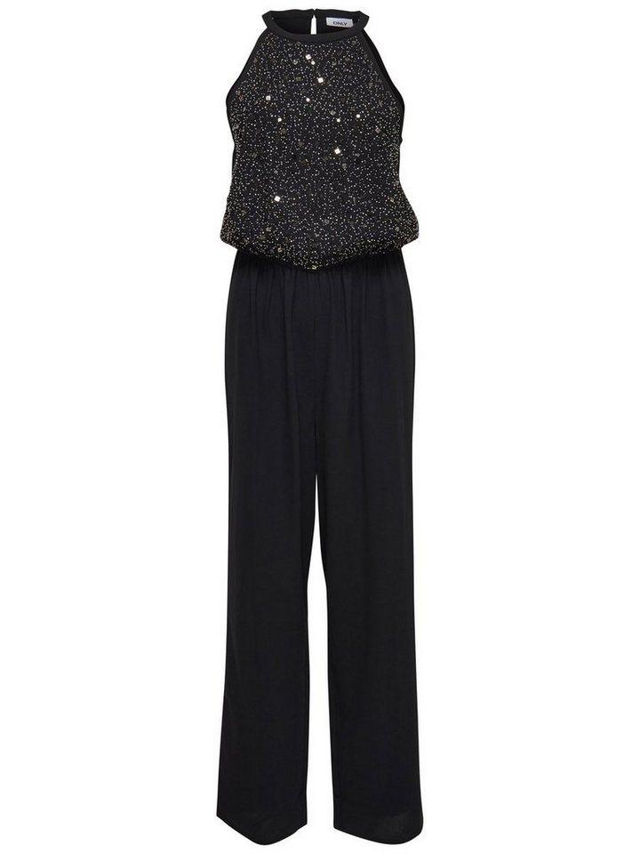 Only Pailletten- Jumpsuit in Black