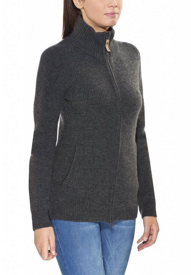 FJÄLLRÄVEN Pullover »Övik Zip Cardigan Women« in schwarz