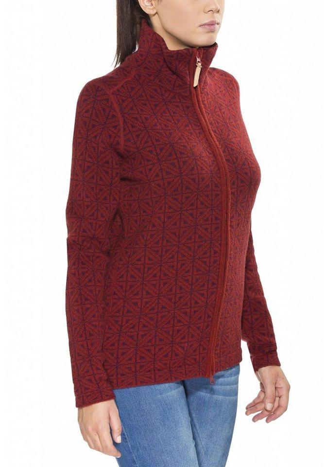 Fjällräven Pullover »Övik Frost Cardigan Women« in rot