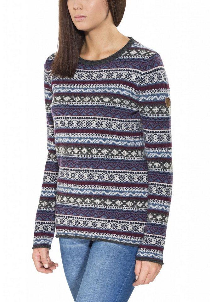 Fjällräven Pullover »Övik Folk Knit Sweater Women« in blau