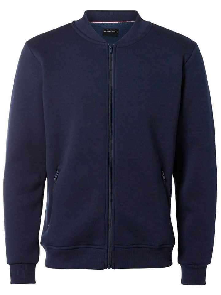 Selected Sweat- Strickjacke in Navy Blazer