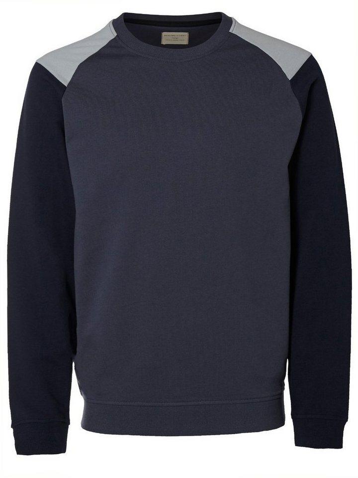 Selected Crew-Neck- Sweatshirt in Ombre Blue