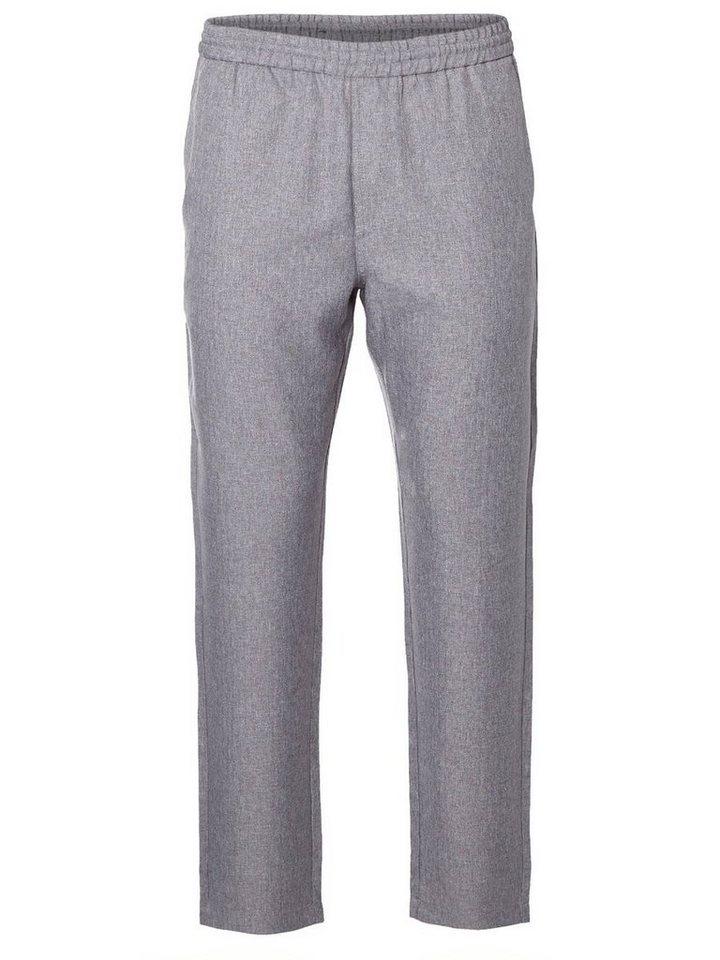 Selected Regular fit- Hose in Grey Melange