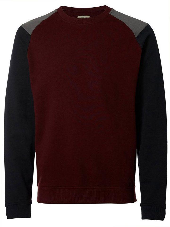 Selected Crew-Neck- Sweatshirt in Port Royale