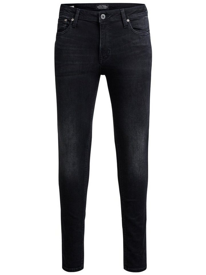 Jack & Jones Liam Original AM 034 Skinny Fit Jeans in Black Denim