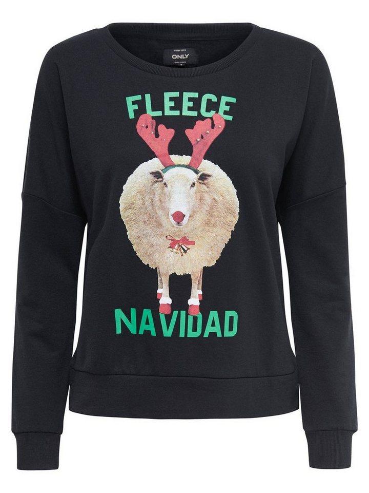 Only Christmas- Sweatshirt in Black