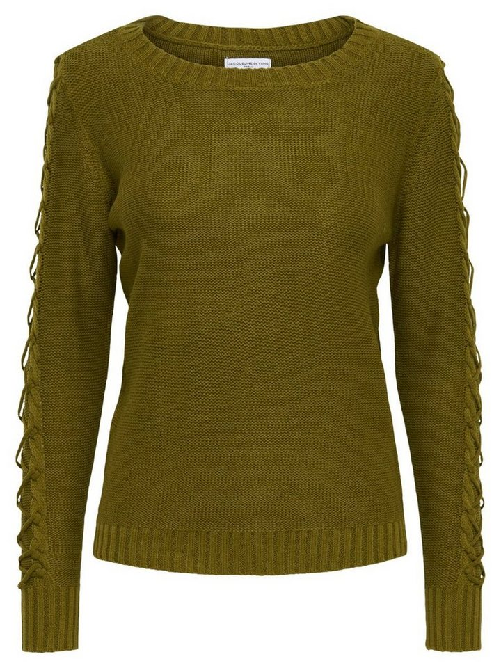 Only Detaillierter Strickpullover in Fir Green