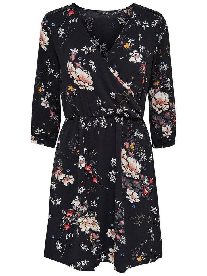 Only Bedrucktes Kleid in Black