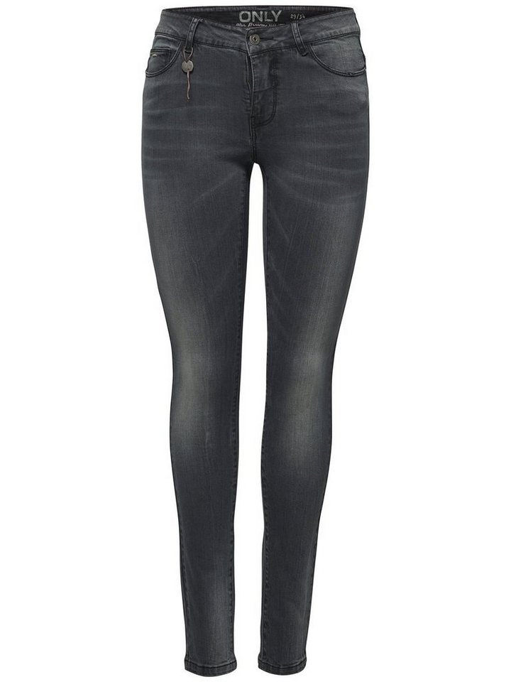Only Carmen reg sk Skinny Fit Jeans in Medium Grey Denim