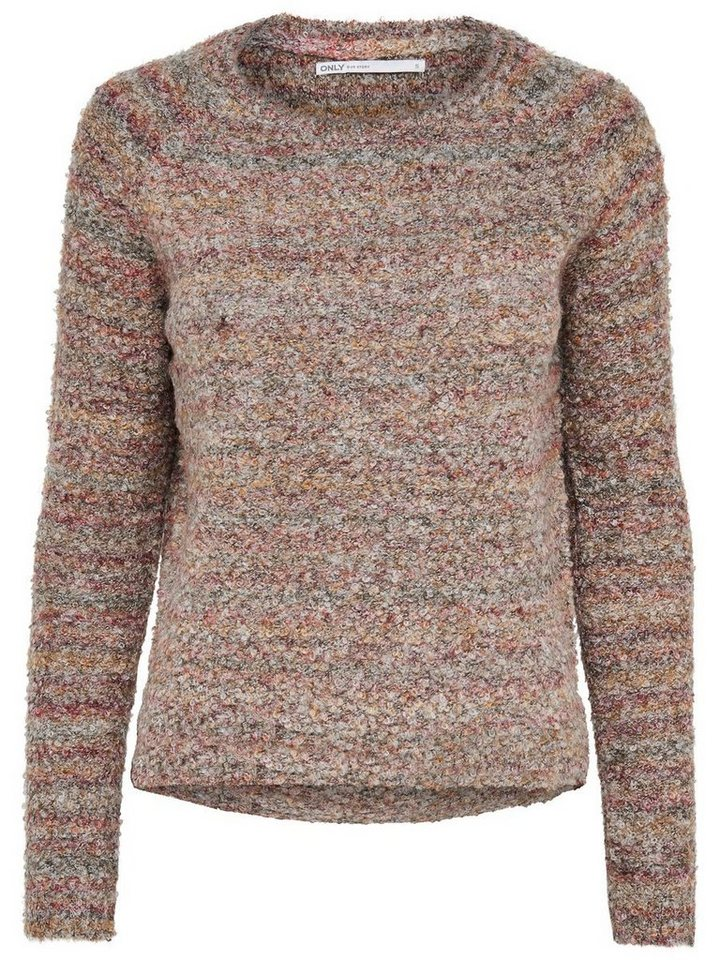 Only Einfarbiger Strickpullover in Falcon