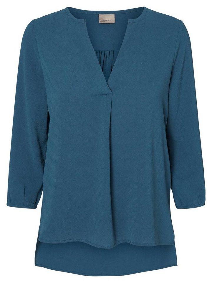 Vero Moda Loose-Fit- Bluse mit 3/4 Ärmeln in Reflecting Pond