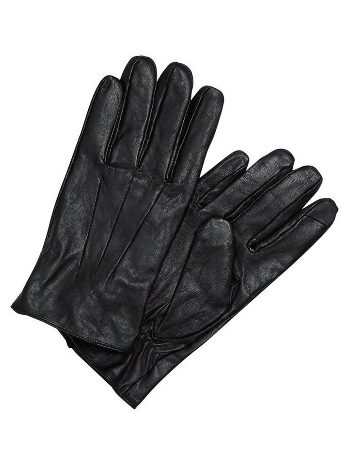 Jack & Jones Leder- Handschuhe in Black