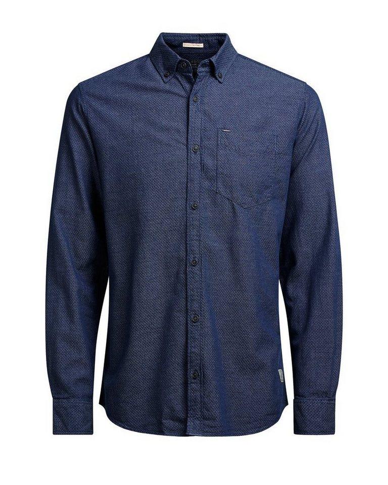 Jack & Jones Klassisches Langarmhemd in Mood Indigo