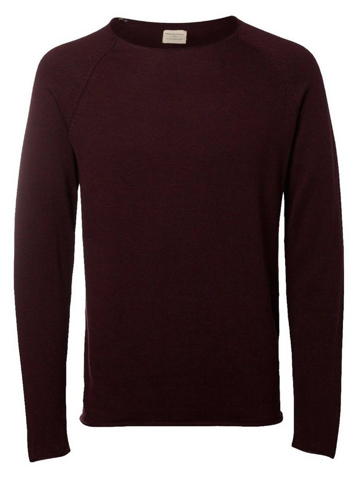 Selected Crew Neck- Strickpullover in Winetasting