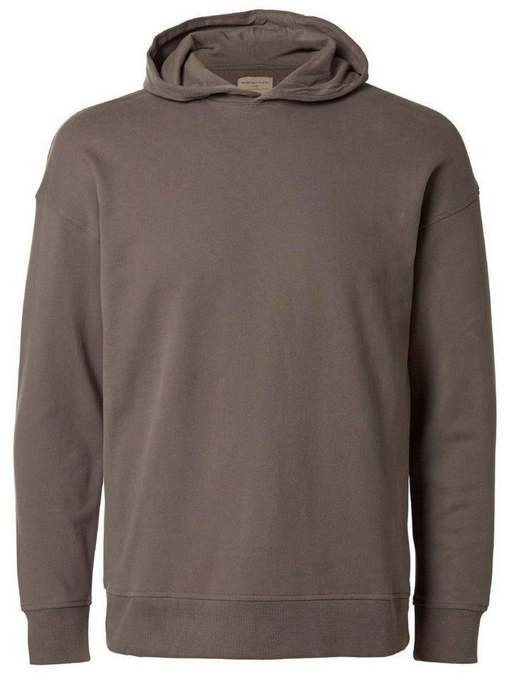 Selected Kapuzen- Sweatshirt in Brushed Nickel