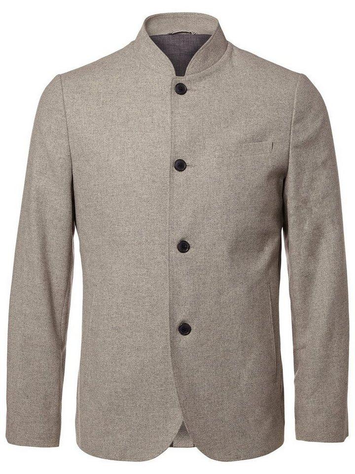 Selected Woll- Blazer in Light Grey Melange