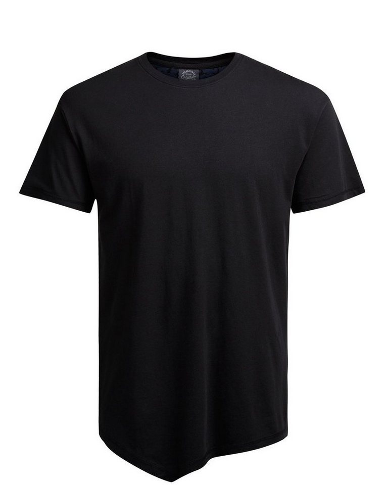 Jack & Jones Länger geschnittenes T-Shirt in Black