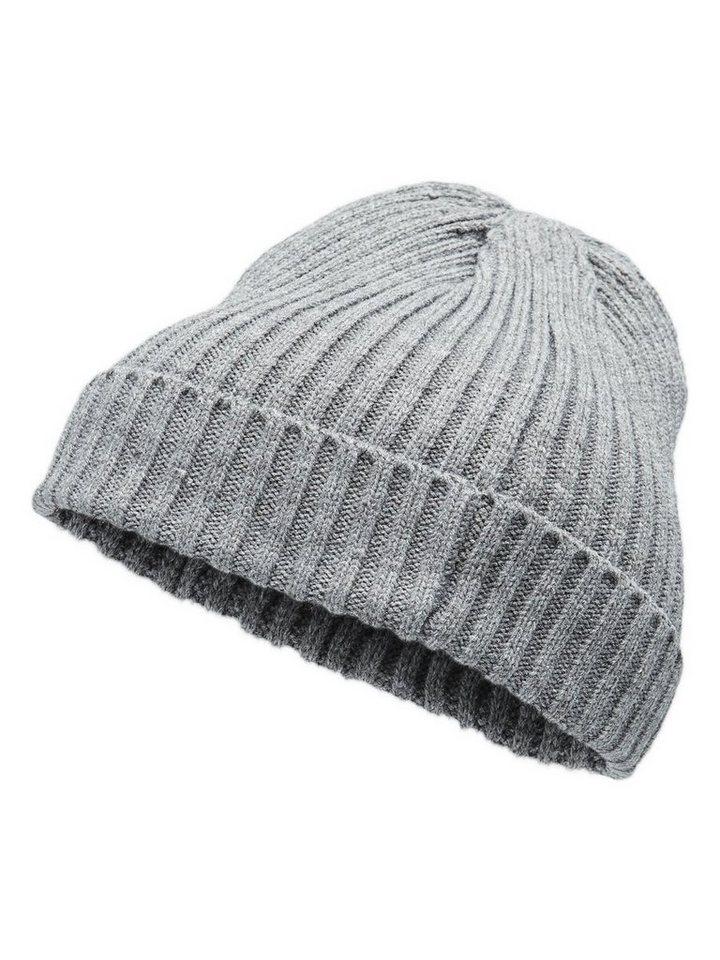 Jack & Jones Klassische Mütze in Grey Melange