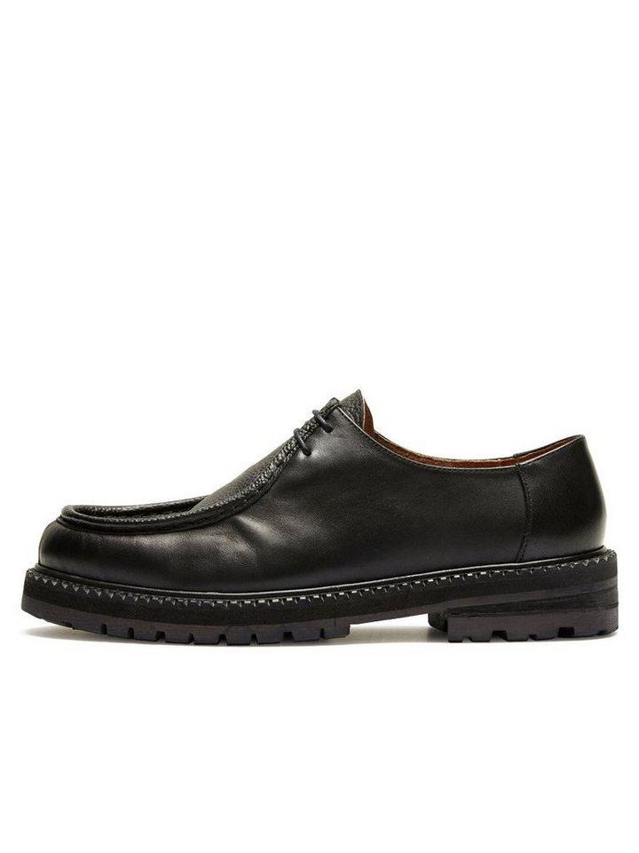 Selected Leder- Schuhe in Black