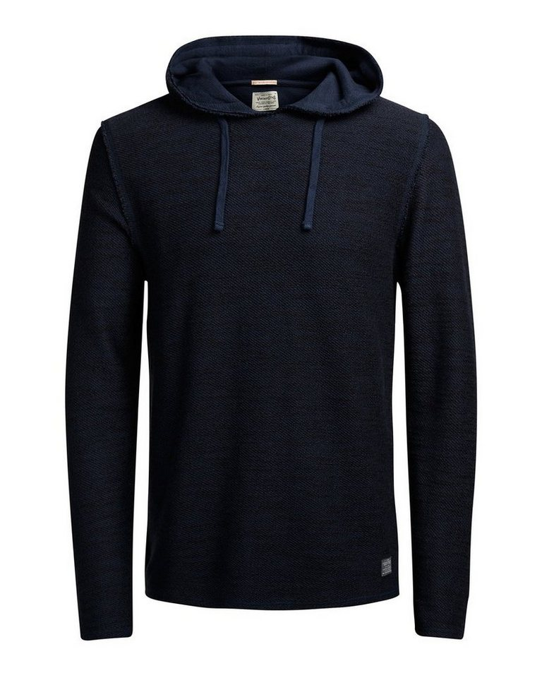 Jack & Jones Melange- Hoodie in Mood Indigo