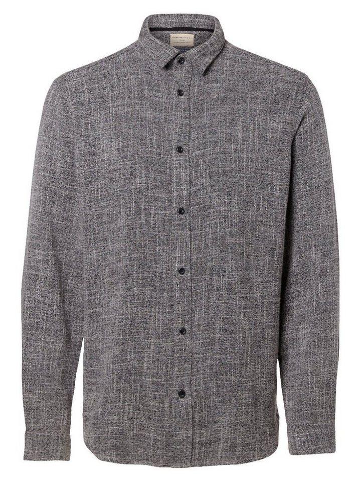 Selected Regular-Fit- Langarmhemd in Grey